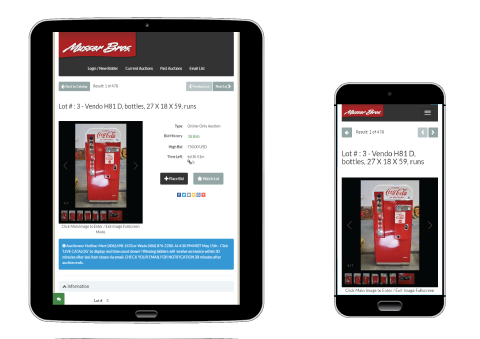 HiBid Mobile App for Musser